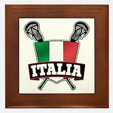 Italia Italy Lacrosse Logo Framed Tile