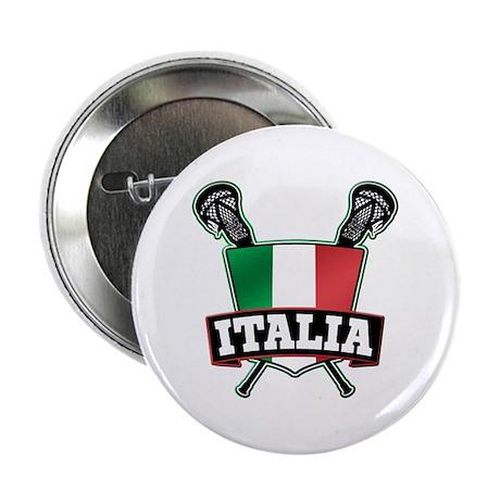 "Italia Italy Lacrosse Logo 2.25"" Button (10 pack)"
