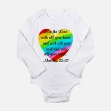 MATTHEW 22:37 Long Sleeve Infant Bodysuit