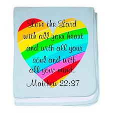 MATTHEW 22:37 baby blanket