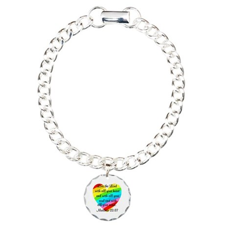 MATTHEW 22:37 Charm Bracelet, One Charm