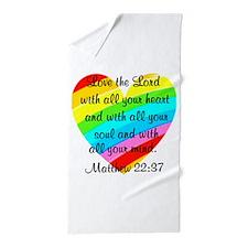 MATTHEW 22:37 Beach Towel