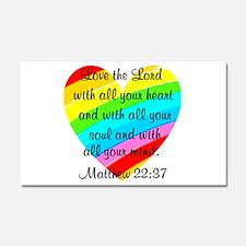 MATTHEW 22:37 Car Magnet 20 x 12