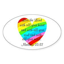 MATTHEW 22:37 Decal