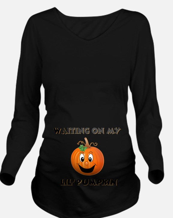 pumpkin maternity Long Sleeve Maternity T-Shir