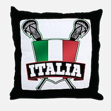 Italia Italy Lacrosse Logo Throw Pillow