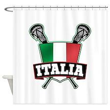 Italia Italy Lacrosse Logo Shower Curtain