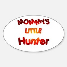 Mommy's little Hunter Oval Decal