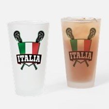 Italia Italy Lacrosse Logo Drinking Glass