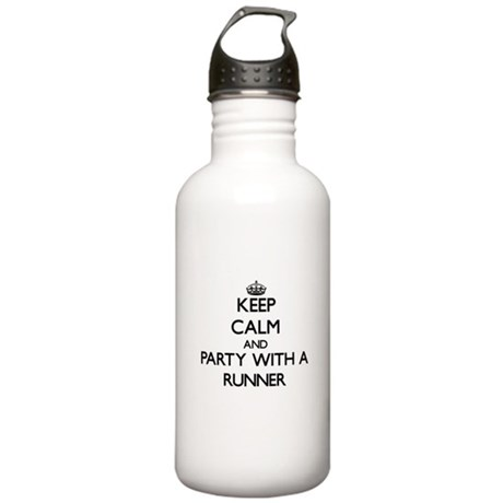 Keep Calm and Party With a Runner Water Bottle
