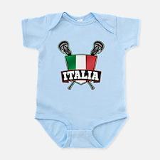 Italia Italy Lacrosse Logo Body Suit