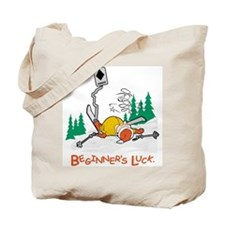 Beginners Luck Skier Tote Bag