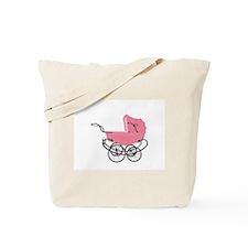 Vintage Pink Baby Girl Stroller Tote Bag