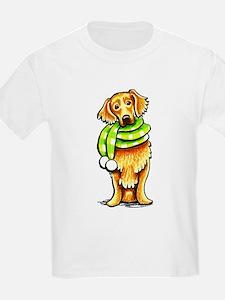 Golden Retriever Scarf T-Shirt