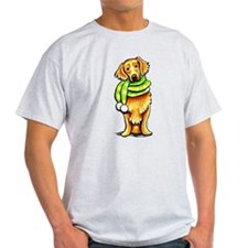 Golden Retriever Scarf T-Shirt