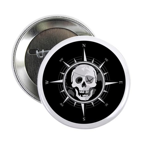 "Pirate Compass 2.25"" Button"