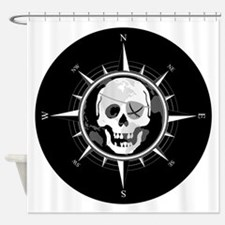 Pirate Compass Shower Curtain