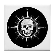 Pirate Compass Tile Coaster