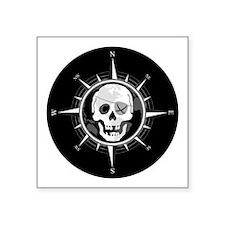 """Pirate Compass Square Sticker 3"""" x 3"""""""