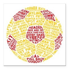 Soccer Ball Football Typography Square Car Magnet