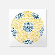 Soccer Ball Football Typography Sticker