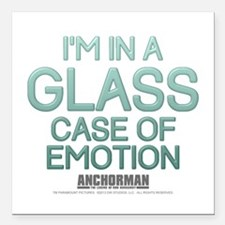 Glass Case Of Emotion Square Car Magnet 3&Quot; X