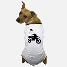 Skeleton with cylinder moves Motorcros Dog T-Shirt
