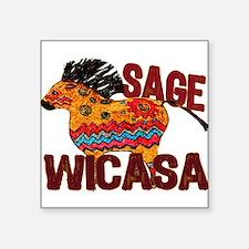 Wicasa the Sage Totem Pony Sticker