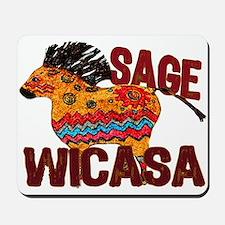 Wicasa the Sage Totem Pony Mousepad