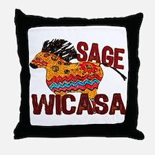 Wicasa the Sage Totem Pony Throw Pillow