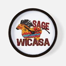 Wicasa the Sage Totem Pony Wall Clock