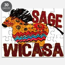 Wicasa the Sage Totem Pony Puzzle