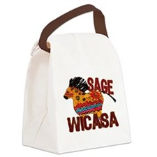 Wicasa the Sage Totem Pony Canvas Lunch Bag