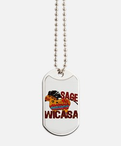 Wicasa the Sage Totem Pony Dog Tags