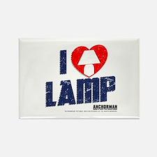 I Love Lamp Rectangle Magnet