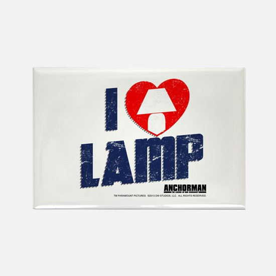 I Love Lamp Rectangle Magnet