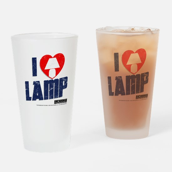 I Love Lamp Drinking Glass