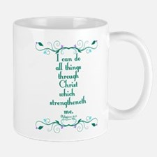 Philippians 4:13 Butterfly Vine Mug