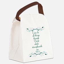 Philippians 4:13 Butterfly Vine Canvas Lunch Bag
