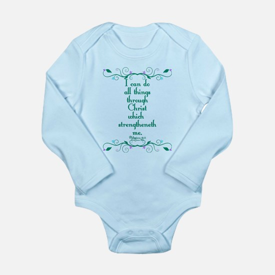 Philippians 4:13 Butterfly Vine Long Sleeve Infant