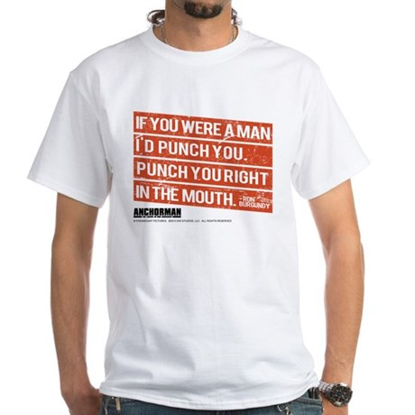 Punch You White T-Shirt