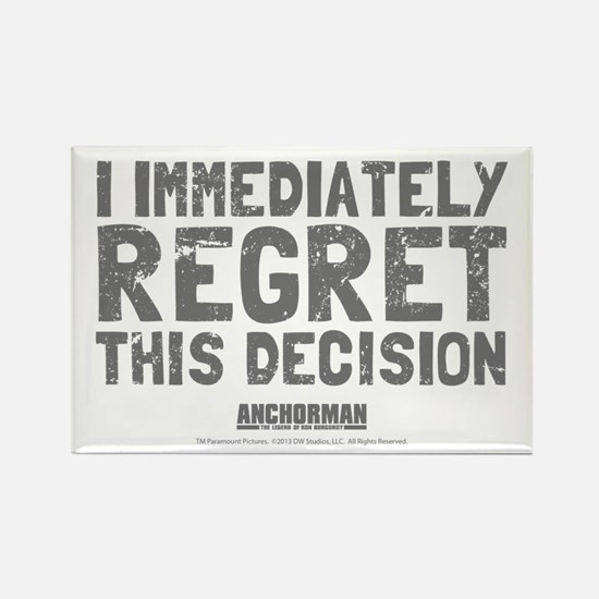 Regret this Decision Rectangle Magnet