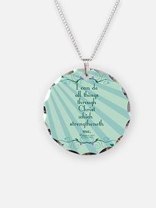 Philippians 4:13 Starburst Necklace