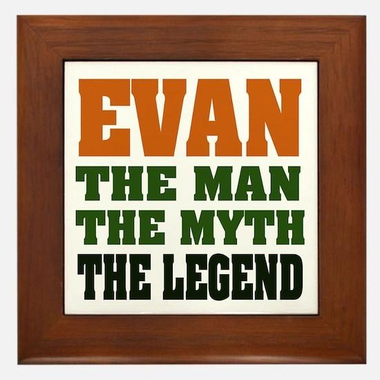 EVAN - the legend! Framed Tile