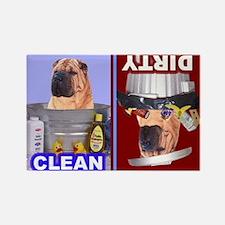Unique Shar pei Rectangle Magnet (100 pack)