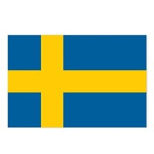 Swedish Flag Postcards (Package of 8)