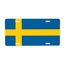Swedish Flag Aluminum License Plate