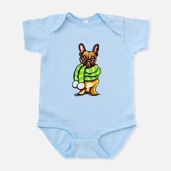 Frenchie Scarf Infant Bodysuit