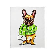 Frenchie Scarf Throw Blanket