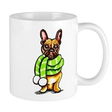 Frenchie Scarf Mug